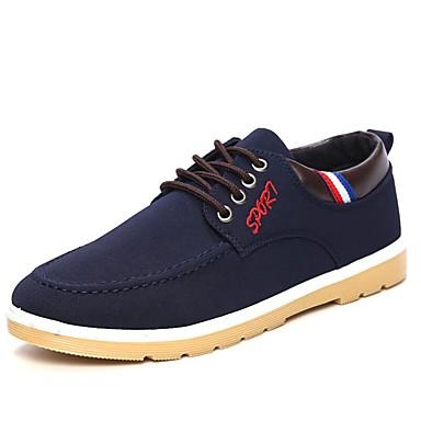 Herre sko Lerret Vinter Vår Sommer Høst Trendy støvler Oxfords Bølgemønster til Avslappet Kontor og karriere utendørs Svart Gul Blå