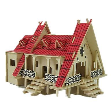 voordelige 3D-puzzels-3D-puzzels Legpuzzel Modelbouwsets Beroemd gebouw Huis DHZ Puinen Klassiek Unisex Jongens Meisjes Speeltjes Geschenk
