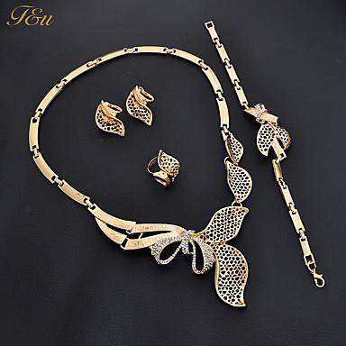 Women's Bracelet Earrings Necklace Rhinestone Chrome Bowknot Personalized Luxury Pendant Classic Rhinestone Basic DIY Euramerican Fashion