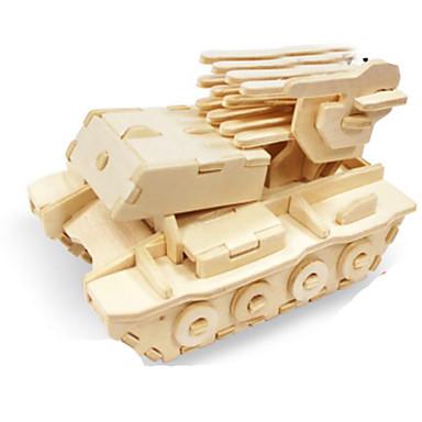 Quebra-Cabeças 3D Quebra-Cabeça Quebra-Cabeças de Metal Tanque Faça Você Mesmo De madeira Madeira Natural Clássico Crianças Adulto Unisexo Brinquedos Dom
