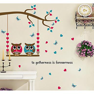 Dyr Romantik Former Veggklistremerker Fly vægklistermærker Dekorative Mur Klistermærker Materiale Hjem Dekor Veggoverføringsbilde