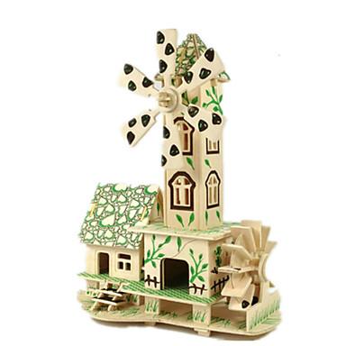 voordelige 3D-puzzels-3D-puzzels Legpuzzel Modelbouwsets Beroemd gebouw Huis DHZ Puinen Klassiek Unisex Speeltjes Geschenk