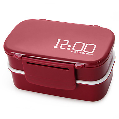 1410ml Double Layer Japan Style Microwave Oven Lunch Box