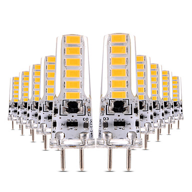 YWXLIGHT® 10pcs 4W 300-400lm LED Bi-pin Lights T 12 LED Beads SMD 5730 Dimmable Decorative Warm White Cold White 12V 12-24V