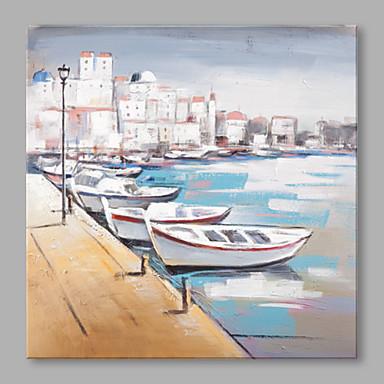 Pintados à mão Paisagem Horizontal, Abstracto Tela de pintura Pintura a Óleo Decoração para casa 1 Painel