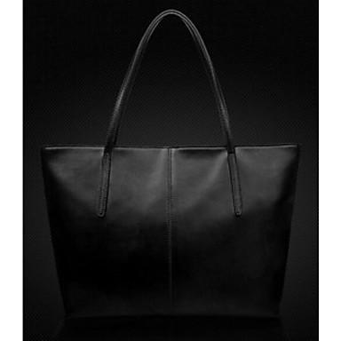 Women Shoulder Bag PU All Seasons Casual Outdoor Rectangle Zipper Blue Black Fuchsia