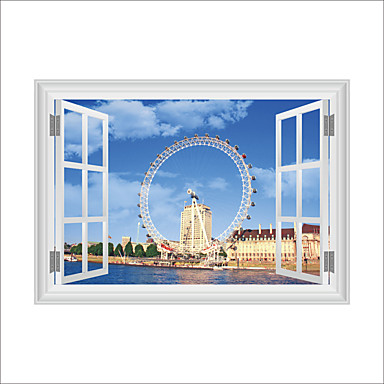 3D Wall Stickers Wall Decas Style London Eye PVC Wall Stickers