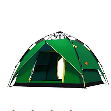 3-4 persons Tent Double Camping Tent Automatic Tent Keep Warm Rain-Proof for Camping / Hiking Other Material CM
