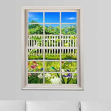 Landscape Wall Stickers 3D Wall Stickers Decorative Wall Stickers,Plastic Material Home Decoration Wall Decal