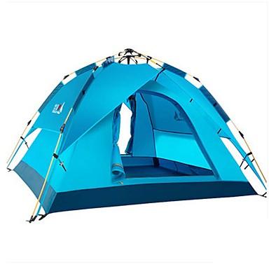 BSwolf 3-4 personer Telt Dobbelt camping Tent Ett Rom Automatisk Telt Vanntett Regn-sikker Støvtett Sammenleggbar til Camping &