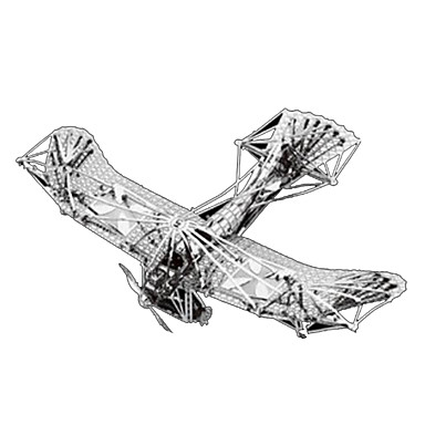 3D Puzzles Jigsaw Puzzle Metal Puzzles Model Building Kit Plane / Aircraft 3D Furnishing Articles DIY Chrome Metal Classic Kid's Adults'