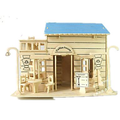 3D Puzzles Jigsaw Puzzle Wood Model Model Building Kit Famous buildings House Architecture 3D DIY Wood Classic Unisex Gift
