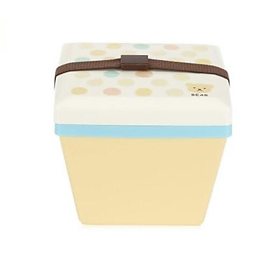 1200ml Square Double Layer Japanese Microwave Lunch Box Container