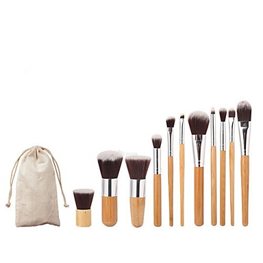 11pcs Makeup Brushes Professional Makeup Brush Set / Blush Brush / Foundation Brush Full Coverage Bamboo / Aluminium