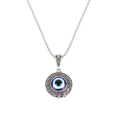 Women's Pendant Necklaces Jewelry Circle Chrome Basic Circular Geometric Fashion Vintage Punk Hip-Hop Personalized Rock Hypoallergenic
