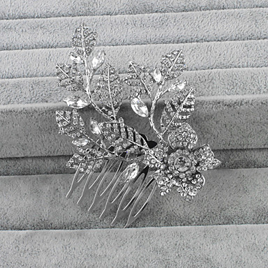 Cristal / Strass Pentes de cabelo 1 Casamento Capacete