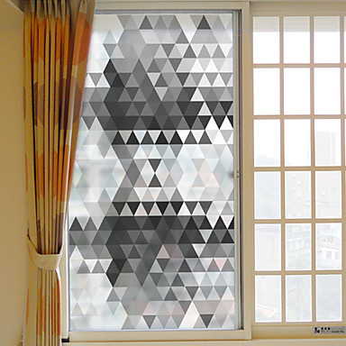 Geometric Christmas Window Sticker, PVC/Vinyl Material Window Decoration Living Room