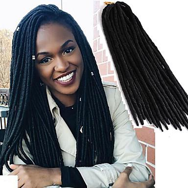Crochet Crochet Faux Dreads Faux Dreads Dreadlock Extensions 100% Kanekalon Hair Dreadlocks/Faux Locs Hair Braid