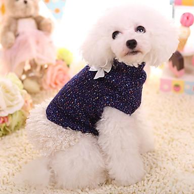 Hund Gensere Hundeklær Ensfarget Syntetisk Dun Kostume For kjæledyr Hold Varm