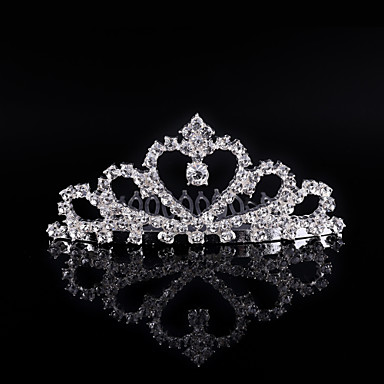 Crystal / Rhinestone / Alloy Tiaras / Hair Combs / Headwear with Floral 1pc Wedding / Special Occasion / Birthday Headpiece
