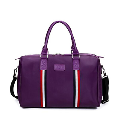 Unisex Travel Bag PU Oxford Cloth Polyester All Seasons Casual Outdoor Rectangle Zipper Blue Black Red Amethyst