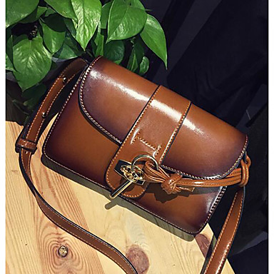 Women Bags All Seasons PU Shoulder Bag for Casual Outdoor Green Red Brown