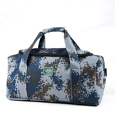 Men Bags All Seasons Oxford Cloth Travel Bag for Casual Sports Outdoor Blue White Gray Clover Brown
