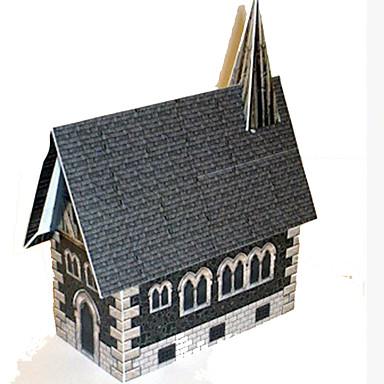 voordelige 3D-puzzels-3D-puzzels Bouwplaat Modelbouwsets Huis Kerk (83 DHZ Hard Kaart Paper Klassiek Kinderen Unisex Jongens Speeltjes Geschenk