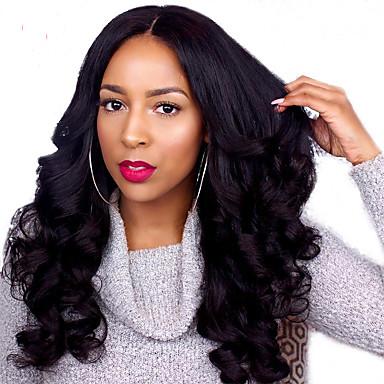 Remy haj Csipke korona, szőtt / Csipke Paróka 360 Frontal Paróka 180% Természetes hajszálvonal / Afro-amerikai paróka / 100% kézi csomózású Női Rövid / Közepes / Hosszú Emberi hajból készült parókák