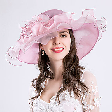 Feather   Silk   Organza Fascinators   Hats   Headwear with Floral 1pc  Wedding   Special 05719353f17