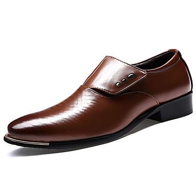 Homens Sapatos de vestir Couro Ecológico Primavera / Outono Conforto / Solados com Luzes Oxfords Preto / Marron