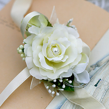 Esküvői virágok Virágcsokrok csuklóra Esküvő Sifon / Selyem / Szatén Kb. 5 cm