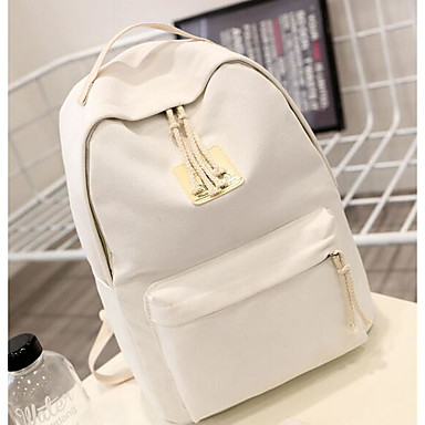 Women's Bags Canvas School Bag for Casual All Seasons Blue White Blushing Pink