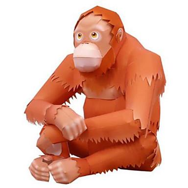 voordelige 3D-puzzels-3D-puzzels Bouwplaat Aap Gorilla Dieren DHZ Hard Kaart Paper Kinderen Unisex Speeltjes Geschenk