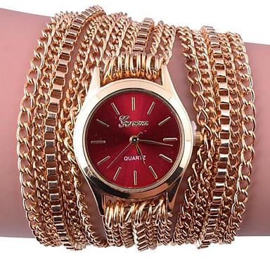 cheap Women's Watches-Women's Bracelet Watch Digital Metal Band Analog Black / White / Silver - Red Pink Navy