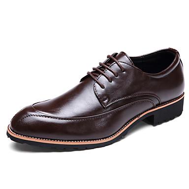 Miesten kengät Nahka Kesä Syksy muodollinen Kengät Oxford-kengät varten Toimisto & ura Juhlat Valkoinen Musta Burgundi