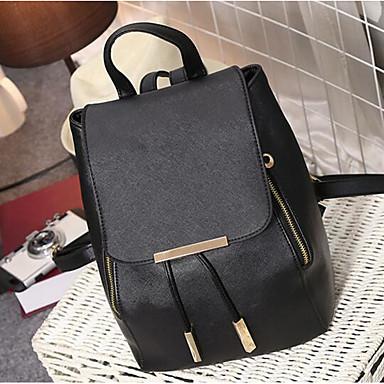 Women Bags All Seasons PU Backpack for Casual White Black Sky Blue