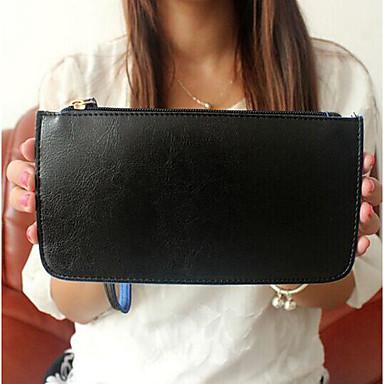 Women's Bags PU Money Clip for Casual All Seasons Black Fuchsia Sky Blue