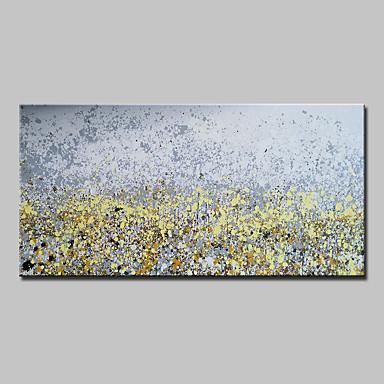 Maalattu Abstrakti Horizontal, Abstrakti Moderni Kangas Hang-Painted öljymaalaus Kodinsisustus 1 paneeli