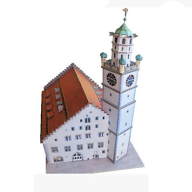 3D Puzzles Paper Model Model Building Kits Paper Craft Toys Square Tower Famous buildings Architecture 3D DIY Hard Card Paper Unisex