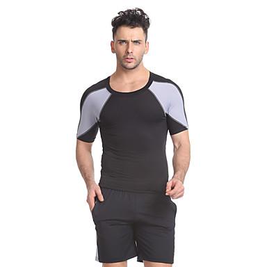 Conjunto de Shorts e Camiseta de Corrida Manga Curta Fitness, Corrida e Yoga Secagem Rápida Respirável Conjuntos de Roupas para Ioga
