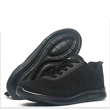 Men's Shoes Knit Tulle Summer Fall Light Soles Sneakers for Athletic Casual Outdoor Black Dark Blue Red