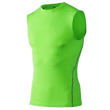 Miesten Juoksutoppi Hihaton Fitness, Juoksu & Yoga Nopea kuivuminen Urheilu Hihaton Topit varten Retkeily ja vaellus Kuntoilu Koripallo