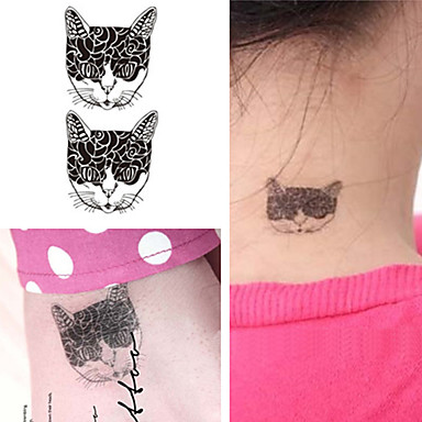 5PCS Fashion Body Art Waterproof Temporary Tattoos Stickers (Size 1.97'' by 2.76'')