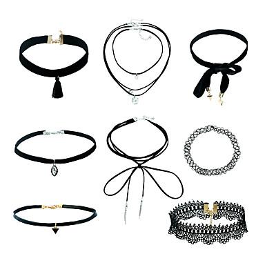 Mulheres Conjunto de jóias - senhoras, Pingente, Básico, Fashion, Euramerican Incluir Gargantilhas Colares com Pendentes Preto Para Rua Casual Escritório e Carreira