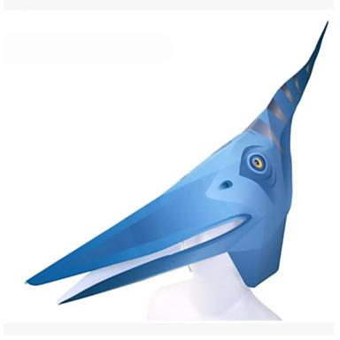 Máscaras de Dia das Bruxas Máscara de Animal Artesanato de Papel Brinquedos Animais Faça Você Mesmo Quadrada 3D Cartão de Papel Duro