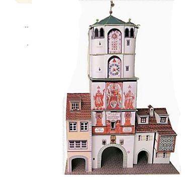 3D-puslespill Papirmodell Modellsett Papirkunst Leketøy Kvadrat Kjent bygning Arkitektur 3D GDS Hardt Kortpapir Unisex Deler