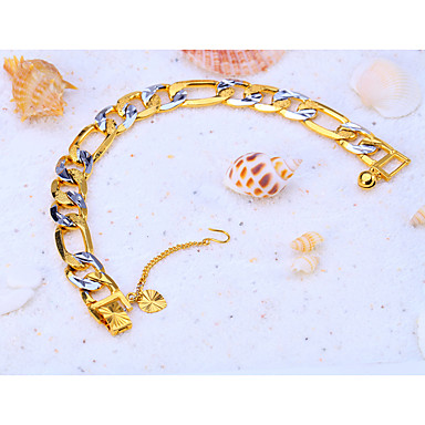Curb Chain Bracelet - Punk, Rock, Fashion Bracelet Gold For Christmas / Special Occasion / Birthday