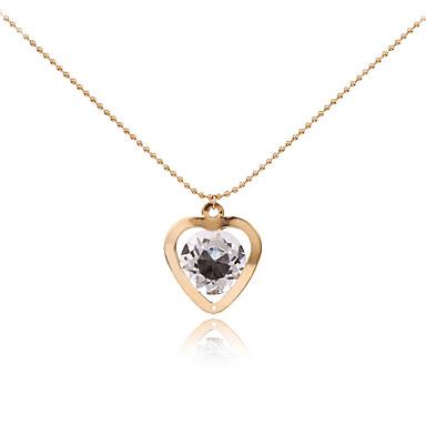 Mulheres Colares com Pendentes - Coração Personalizada, Geométrico, Original Dourado Colar Para Presentes de Natal, Casamento, Festa