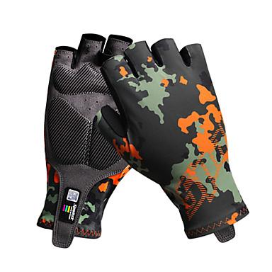 Sykkelhansker Pustende Anti-Skli Svettereduserende Beskyttende Halv Finger Aktivitets- / Sportshansker Fjellsykling Kamuflasje til Voksne Utendørs